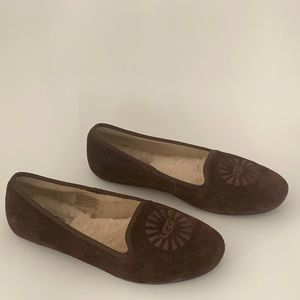 Ugg Alloway suede slippers- 6.5